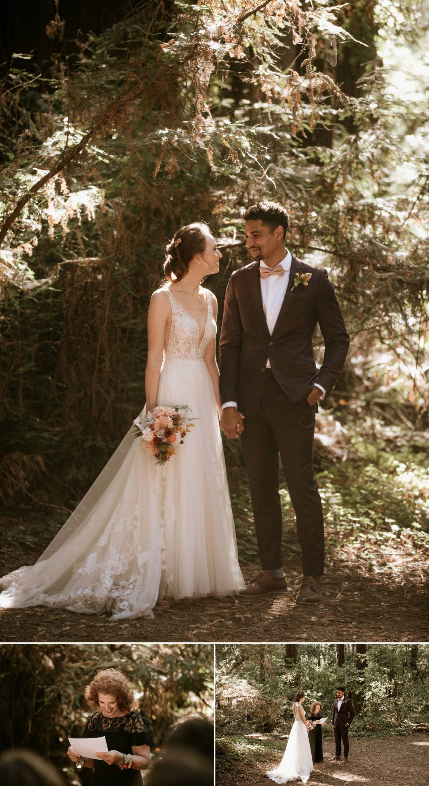 Intimate Forest Wedding in Santa Cruz