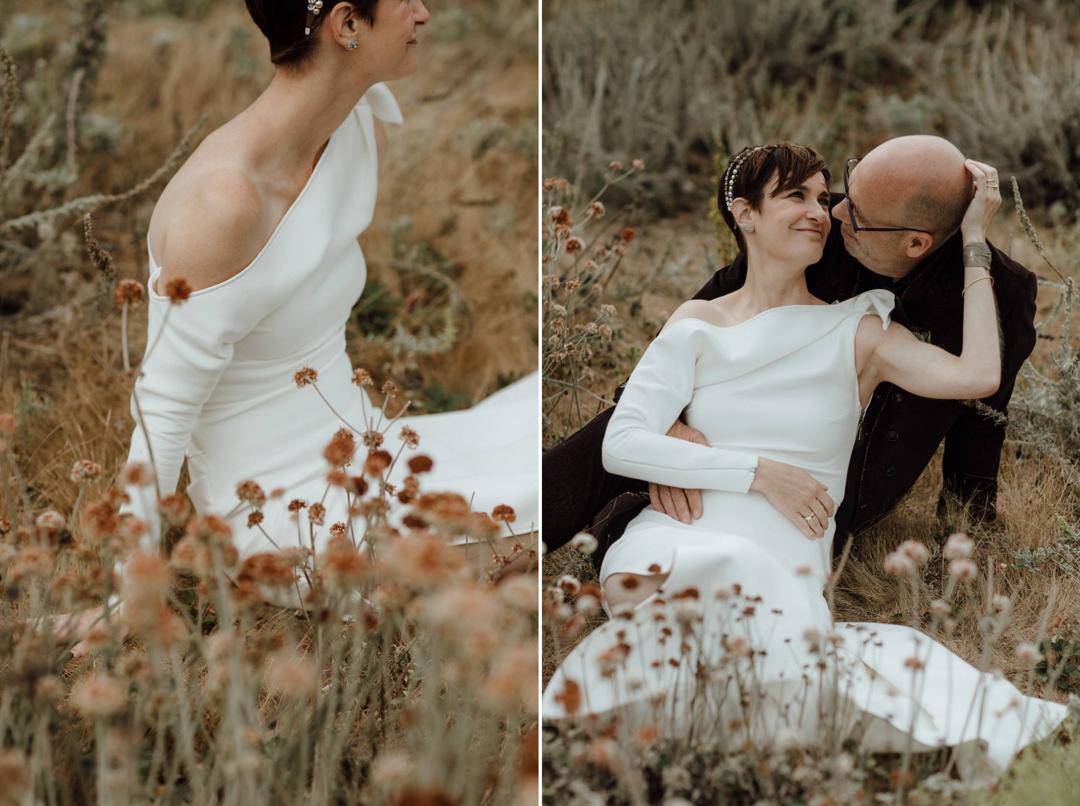 Courthouse elopement Baker Beach