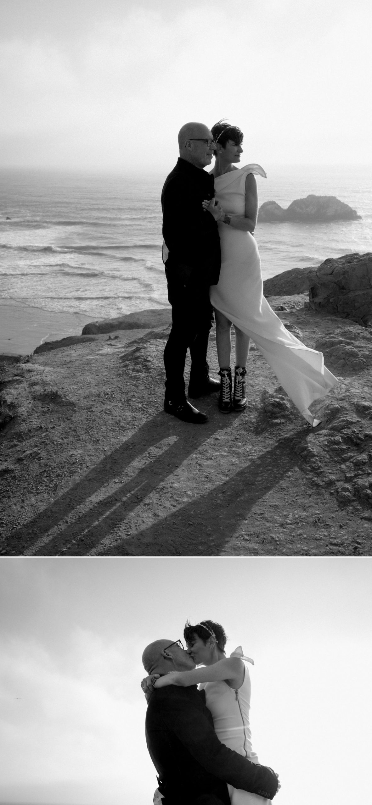 Courthouse elopement Sutro Baths